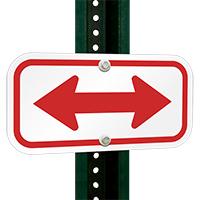 Bidirectional Arrow Signs