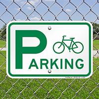 Bicycle Parking (With Graphic) Bike Signs