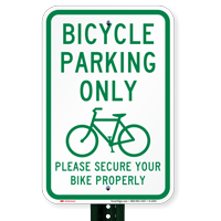 Bicycle Parking Only - Bike Parking Signs