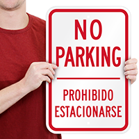 No Parking Prohibido Estacionarse Signs