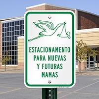 Estacionamento Para Nuevas Y Futuras Mamas Signs