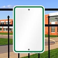 Blank Signs, Green Printed Border
