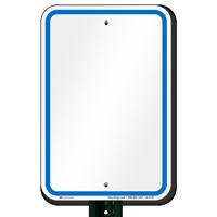 Blank Signs, Blue Printed Border