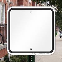 Blank Signs, Black Printed Border
