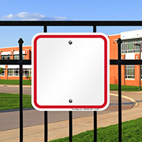 Blank Signs, Red Printed Border