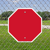Blank Octagon Shaped Bordered Signs