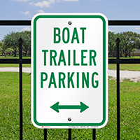 Boat Trailer Parking Bidirectional Arrow Signs
