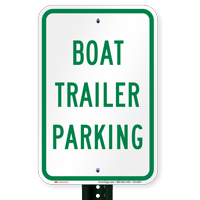 Boat Trailer Parking Signs