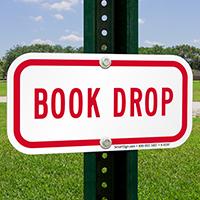 BOOK DROP Signs