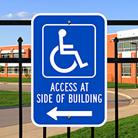 Access Side Building ADA Handicapped Signs