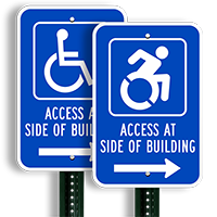 Access Side Building Signs
