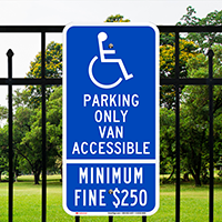 California Combination Handicap Van Accessible Signs
