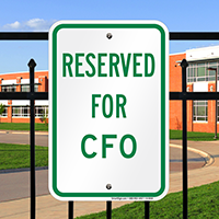 RESERVED FOR CFO Signs