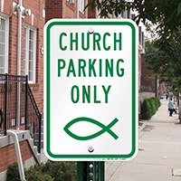 Church Parking Only Signs (Symbol)