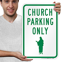 Church Parking Only Signs (Graphic)
