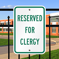 Reserved Clergy Signs