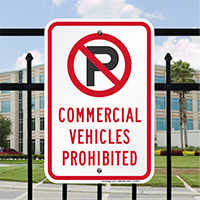 Commercial Vehicles Prohibited Signs