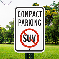 Compact Parking With No Suv Symbol Signs