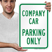 COMPANY CAR PARKING ONLY Parking Signs