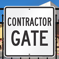 Contractor Gate ID Sign