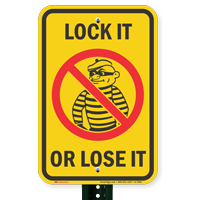 Lock It Or Lose It Crime Watch Signs