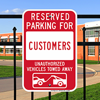 Reserved Parking For Customers Signs