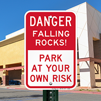 Danger Falling Rocks Signs