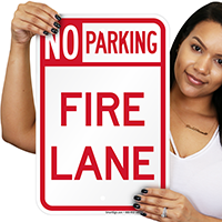 Delaware Fire Lane No Parking Signs