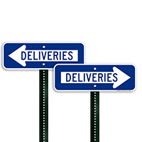 Deliveries Signs (with Right Arrow)