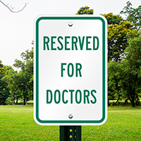 Reserved Doctors Signs