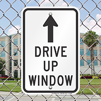 Drive Up Arrow Signs