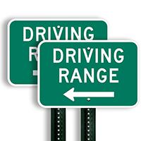 Driving Range Left Arrow Signs