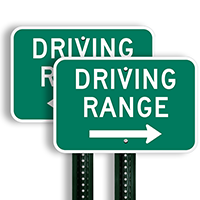 Driving Range Right Arrow Signs