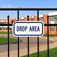 Drop Area Golf Recreation Signs