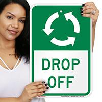 Drop Off, Anti-Clockwise Arrows Signs