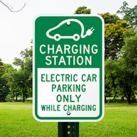 Charging Station Electric Car Parking Signs