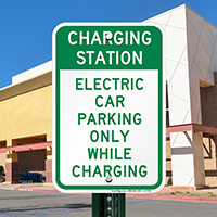 Electric Car Parking Only Signs
