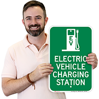 Electric Charging Vehicle Station Signs
