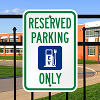 EV Reserved Parking Sign