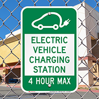 Electric Vehicle Charging Station Signs
