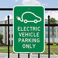 Electric Vehicle Parking Only Signs (With Graphic)