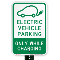 Electric Vehicle Parking Only Signs
