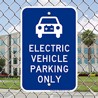 Electrical Vehicle Parking Only Signs