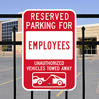 Reserved Parking For Employees Signs