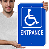 Entrance ADA Handicapped Signs