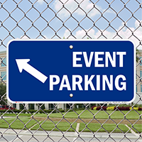 Event Parking Up Left Arrow Direction Signs
