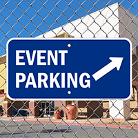 Event Parking Up Right Arrow Symbol Signs