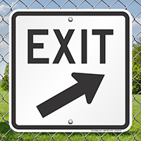 Exit With Right Arrow Signs