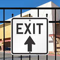 Exit With Up Arrow Signs