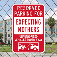 Reserved Parking For Expecting Mothers Signs